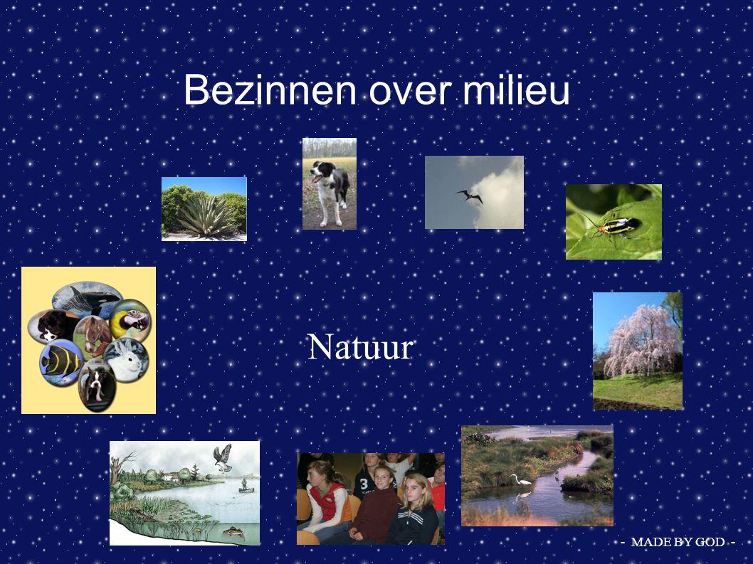 Bezinnen over milieu Cultuur - MADE BY MAN -