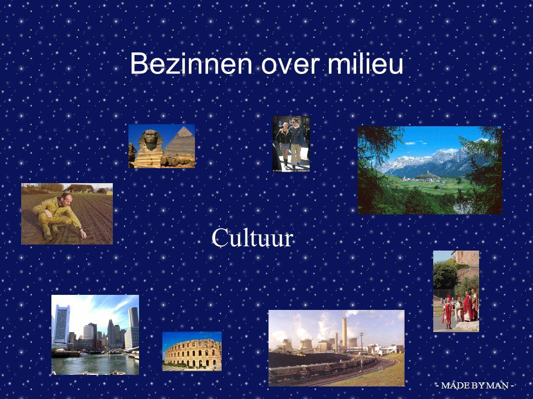 Westerse Cultuur Een aandachtspunt --> omgang met natuur .