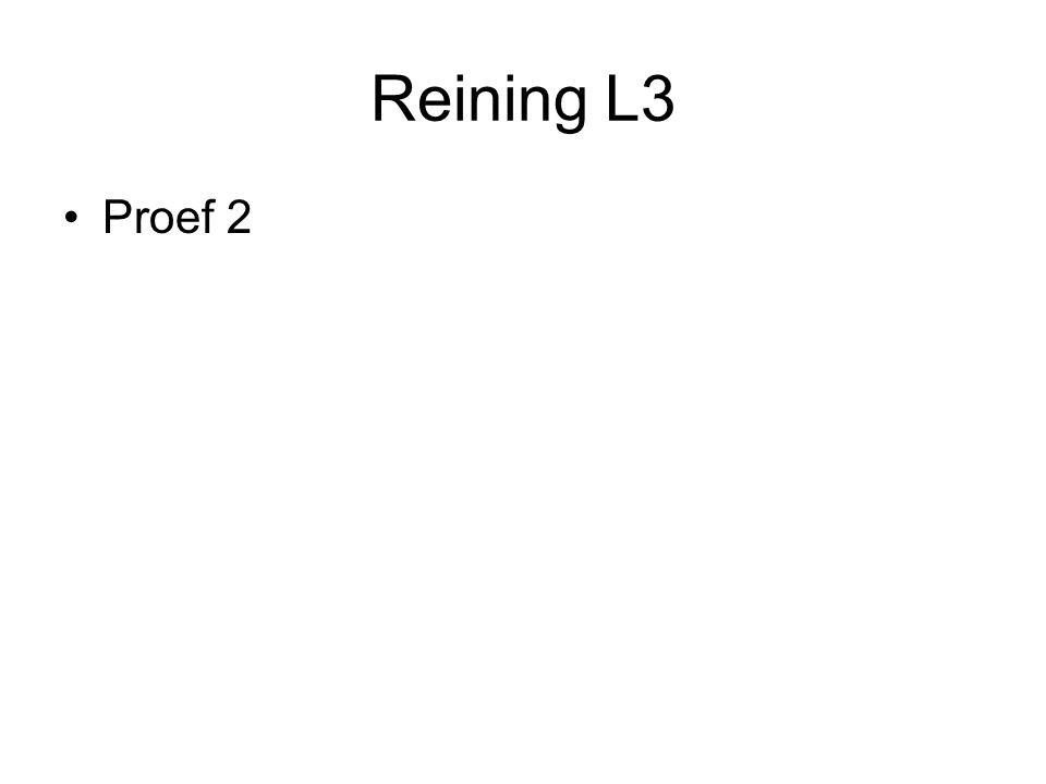 Reining L3 •Proef 2