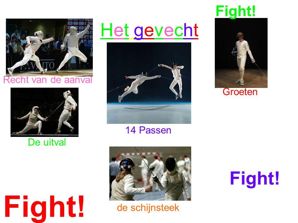 Het gevechtHet gevecht Recht van de aanval Groeten 14 Passen De uitval de schijnsteek Fight!