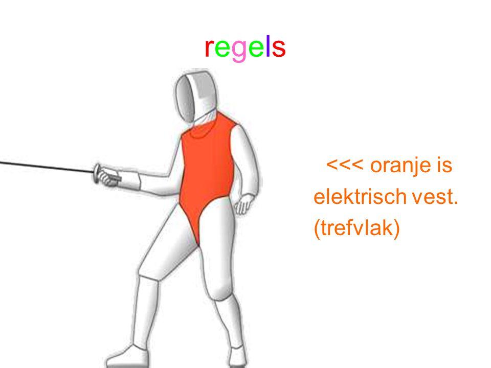 regelsregels <<< oranje is elektrisch vest. (trefvlak)