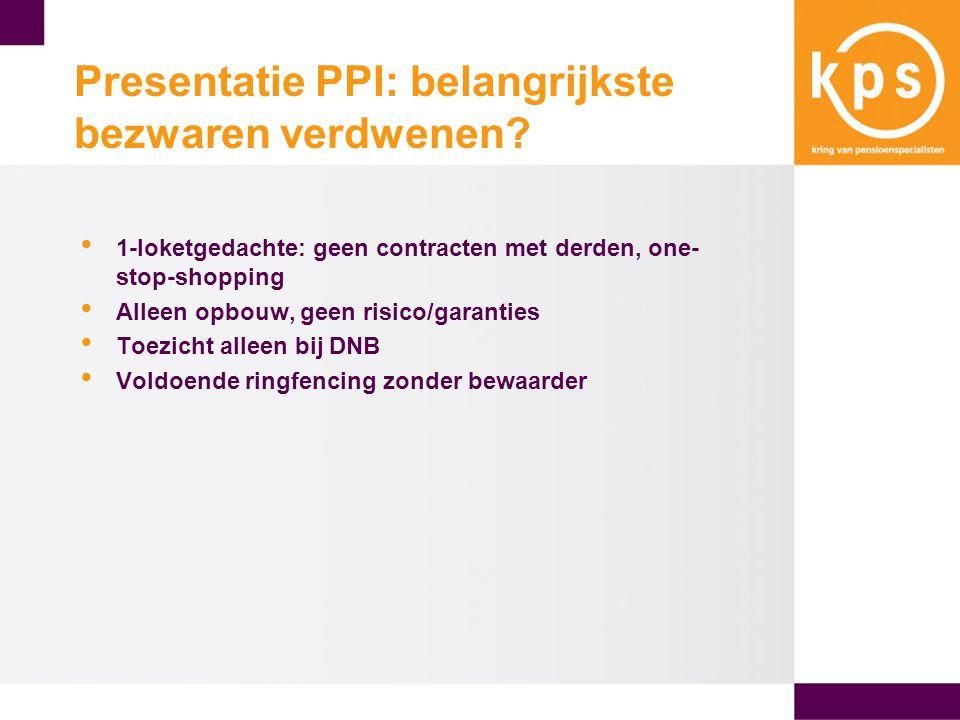 Presentatie PPI: belangrijkste bezwaren verdwenen.