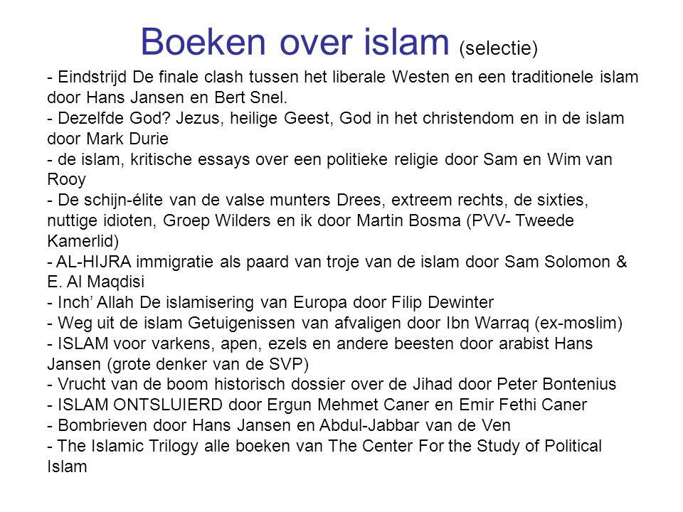 - Eindstrijd De finale clash tussen het liberale Westen en een traditionele islam door Hans Jansen en Bert Snel. - Dezelfde God? Jezus, heilige Geest,