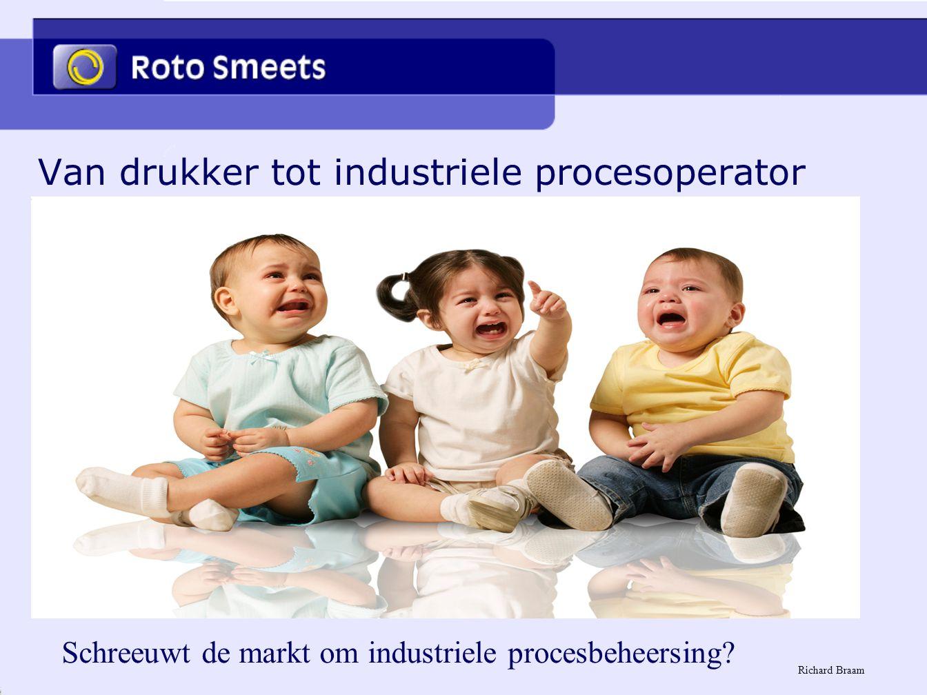Van drukker tot industriele procesoperator Schreeuwt de markt om industriele procesbeheersing? Richard Braam