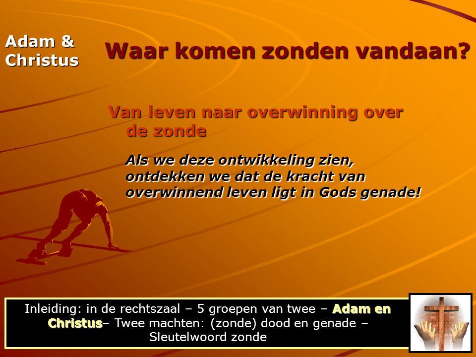 Adam & Christus Van leven naar overwinning over de zonde Als we deze ontwikkeling zien, ontdekken we dat de kracht van overwinnend leven ligt in Gods