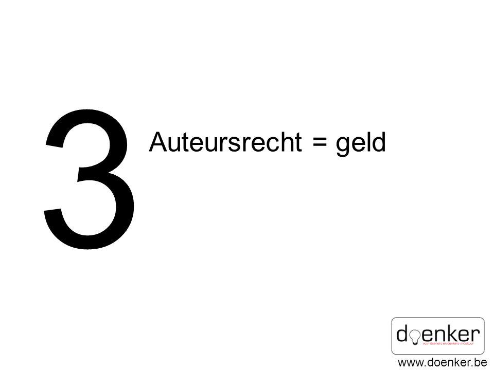 www.doenker.be 3 Auteursrecht = geld