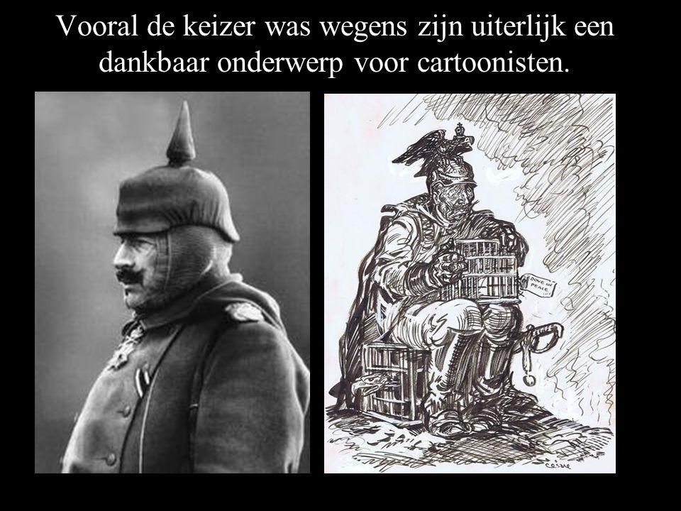 Vooral de keizer was wegens zijn uiterlijk een dankbaar onderwerp voor cartoonisten.