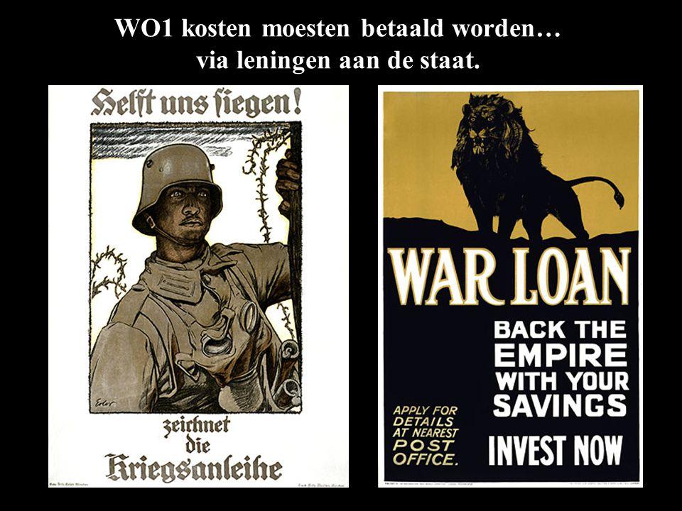 …of om extra inkomsten... WO1 kosten moesten betaald worden… via leningen aan de staat.