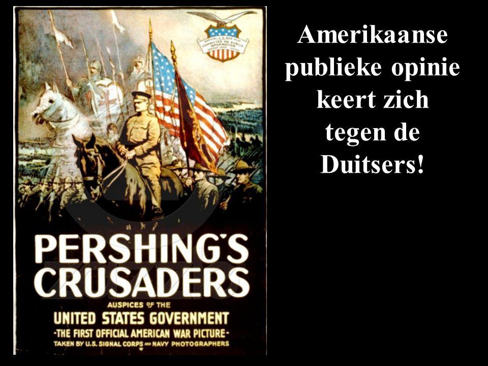 Amerikaanse publieke opinie keert zich tegen de Duitsers!