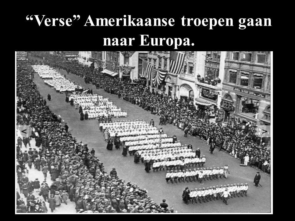 """""""Verse"""" Amerikaanse troepen gaan naar Europa."""