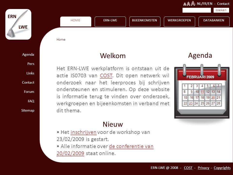 HOME Agenda Pers Links Contact Forum FAQ Sitemap ERN-LWEBIJEENKOMSTENWERKGROEPENDATABANKEN ERN-LWE @ 2008 - COST - Privacy - Copyrights 1 2 3 4 5 6 7