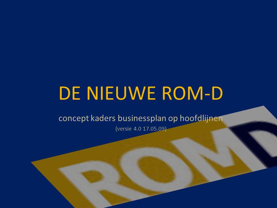 DE NIEUWE ROM-D concept kaders businessplan op hoofdlijnen (versie 4.0 17.05.09)
