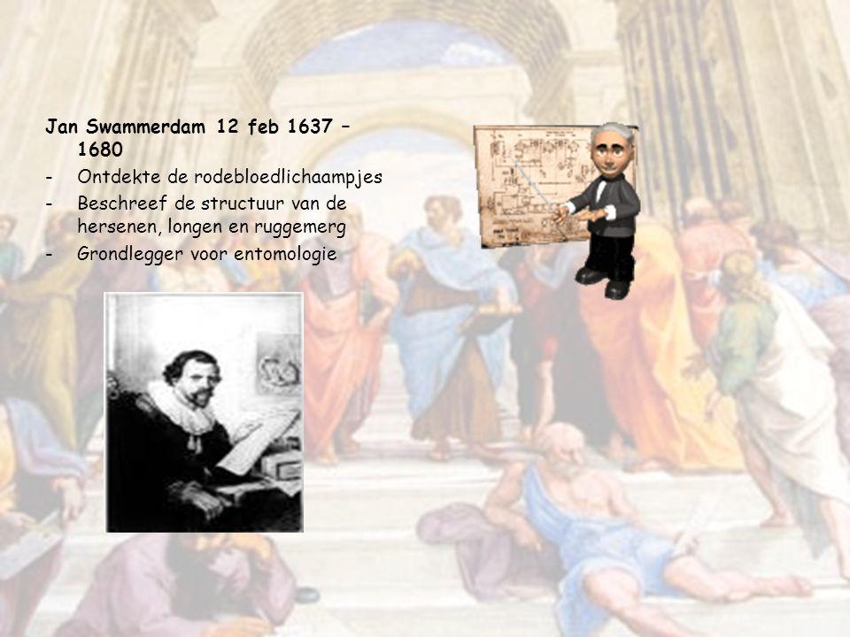 Johann Friedrich Miescher 1844- 1895 -Ontdekker van DNA Theodor Schwann 1810 – 1882 -Celtheorie samen met Schleider -Hij introduceerde de begrippen cy