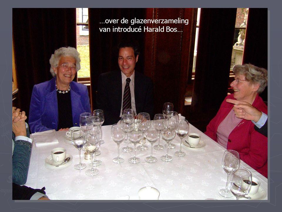 …over de glazenverzameling van introducé Harald Bos…