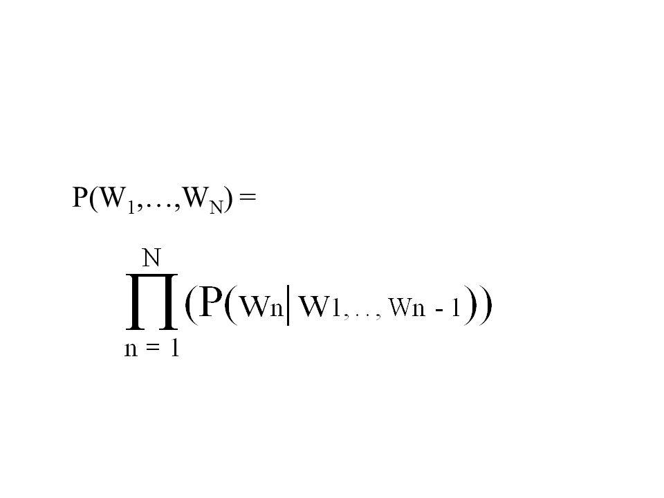 P(W 1,…,W N ) =