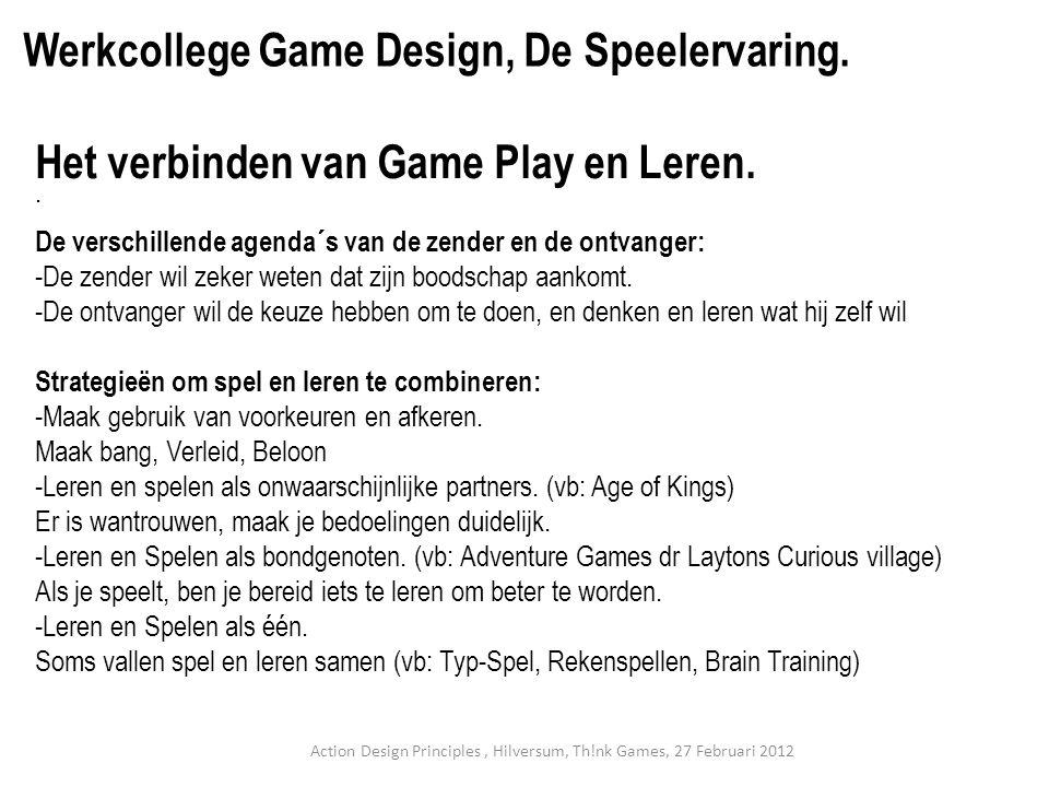 Het verbinden van Game Play en Leren.