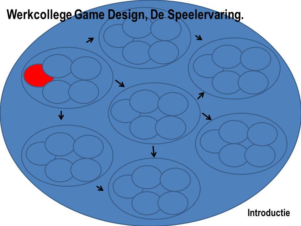 Introductie Werkcollege Game Design, De Speelervaring.