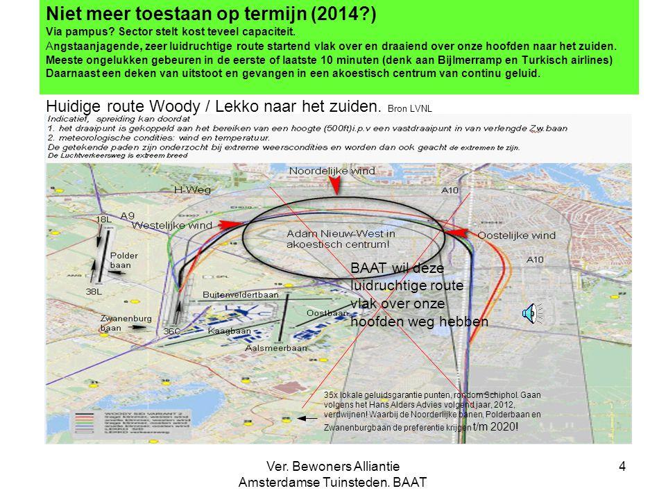 Ver. Bewoners Alliantie Amsterdamse Tuinsteden. BAAT 4 Niet meer toestaan op termijn (2014?) Via pampus? Sector stelt kost teveel capaciteit. Angstaan