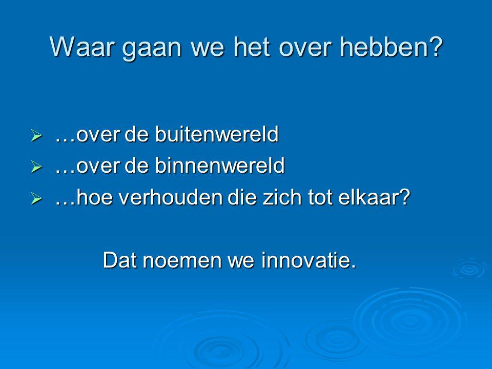 Stellingen  Het Drenthe College moet eerder een metafoor zijn dan een organisatie.