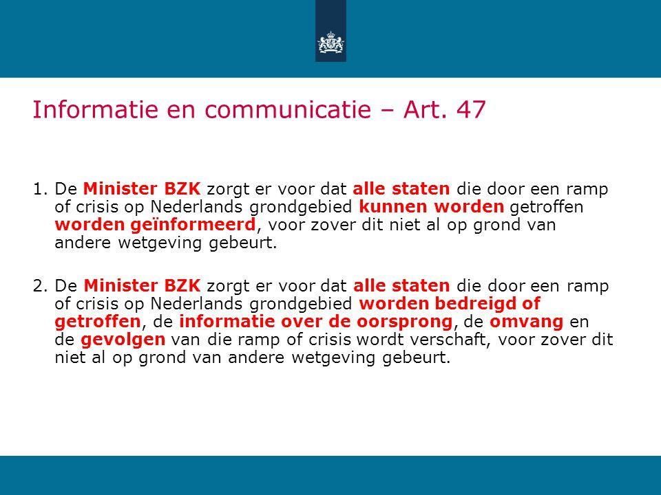 Informatie en communicatie – Art.48 1.