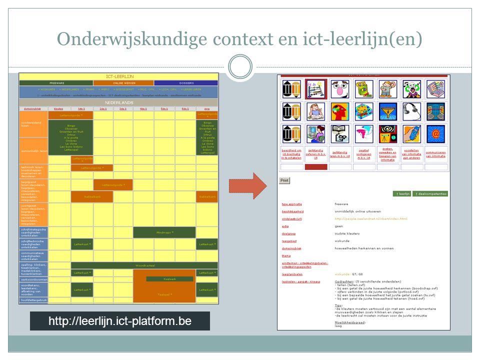 Onderwijskundige context en ict-leerlijn(en) http://leerlijn.ict-platform.be