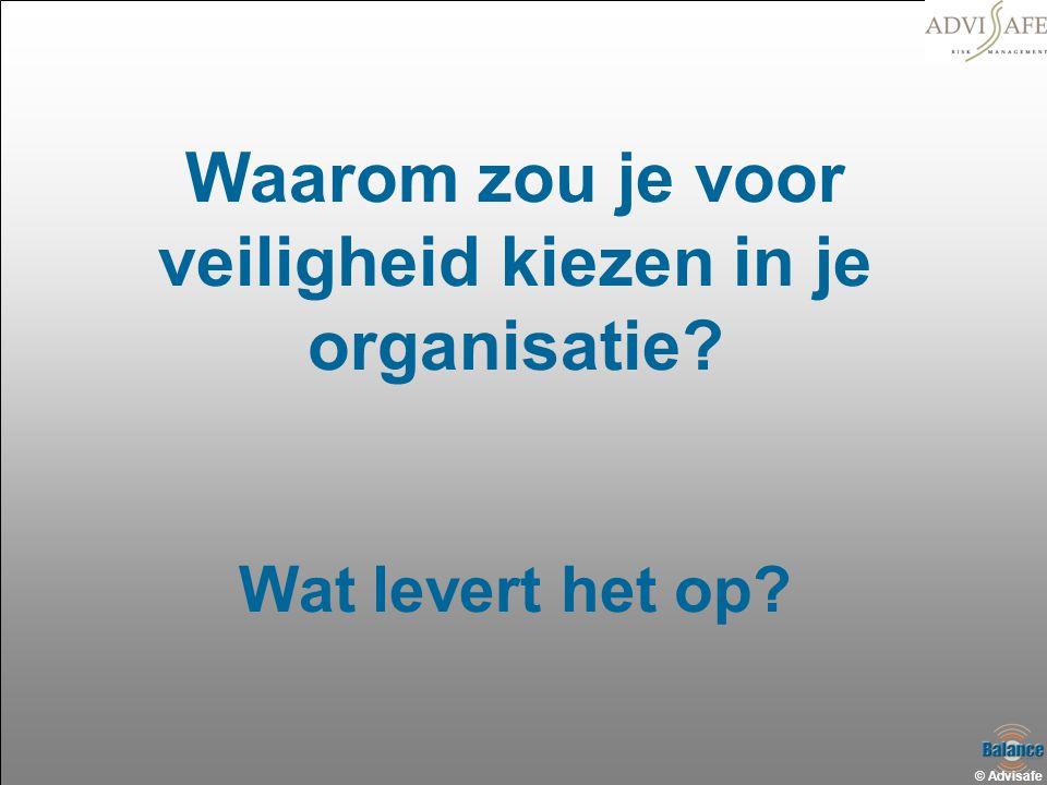 © Advisafe Waarom zou je voor veiligheid kiezen in je organisatie? Wat levert het op?