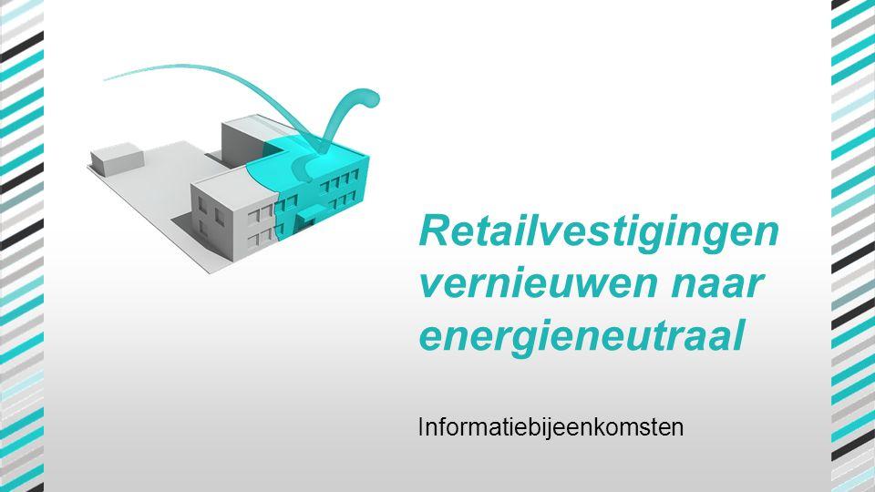 Retailvestigingen vernieuwen naar energieneutraal Informatiebijeenkomsten