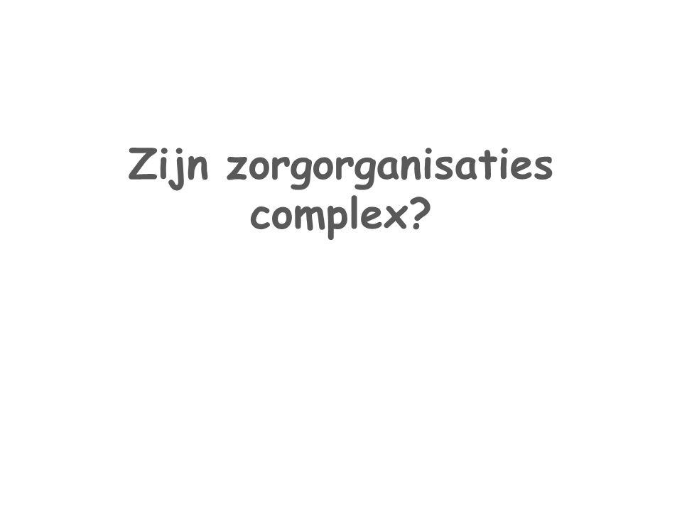 Zijn zorgorganisaties complex?