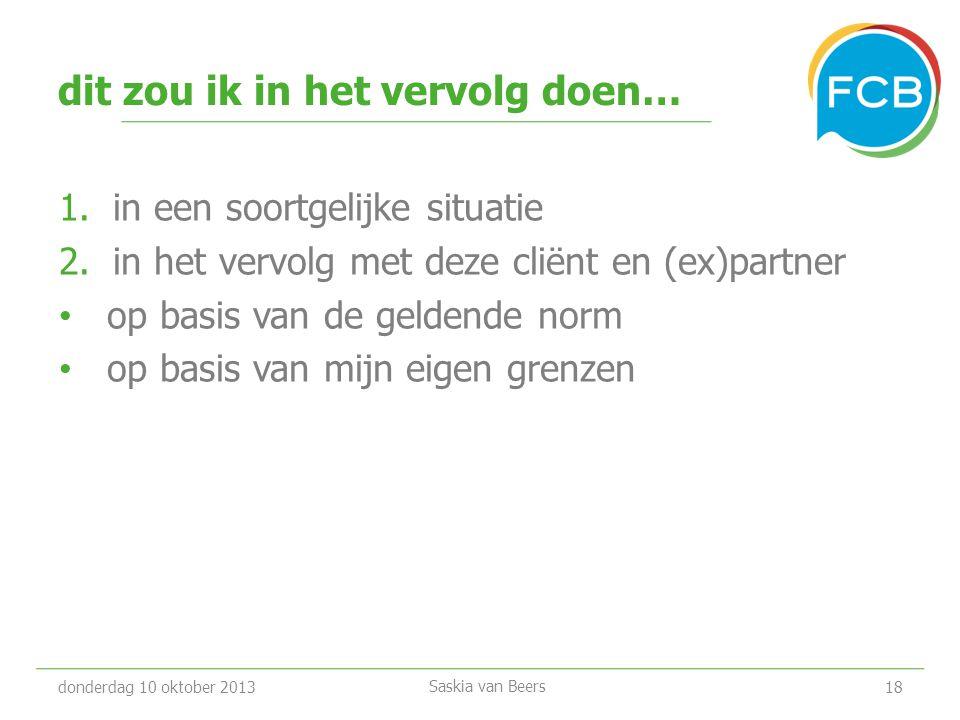 'spelenderwijs' in gesprek donderdag 10 oktober 201319 Saskia van Beers www.fcb.nl/welzijn/agressiespel