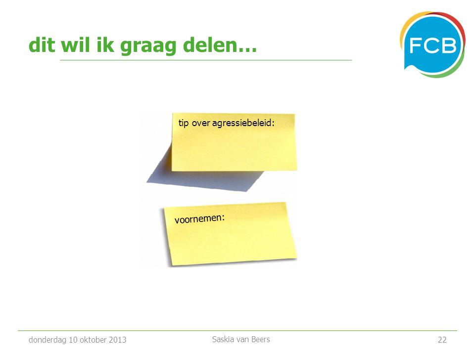 Meer informatie donderdag 7 februari 201323 • www.fcb.nl/overfcb/gezond-en-veilig-werken/ www.fcb.nl/overfcb/gezond-en-veilig-werken/ • E: gezondwerken@fcb.nl • T.