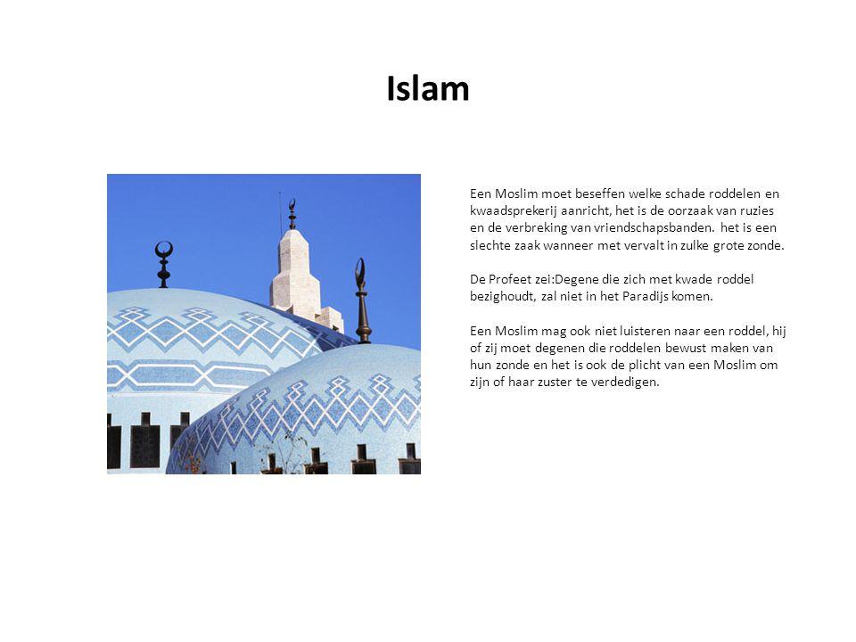 Een Moslim moet beseffen welke schade roddelen en kwaadsprekerij aanricht, het is de oorzaak van ruzies en de verbreking van vriendschapsbanden.