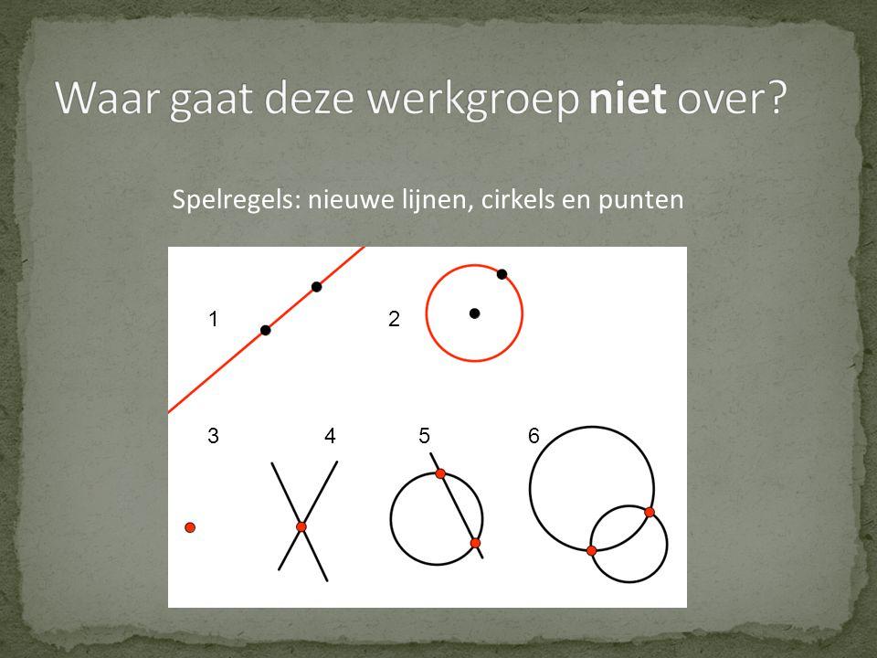 12 3456 Spelregels: nieuwe lijnen, cirkels en punten