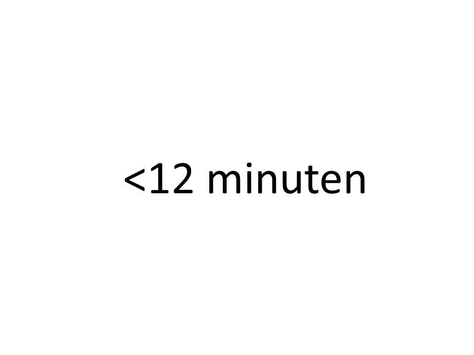 <12 minuten