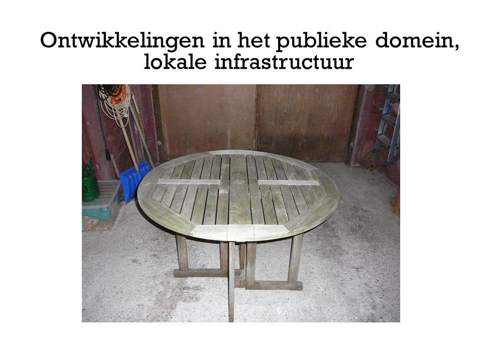Ontwikkelingen in het publieke domein, lokale infrastructuur