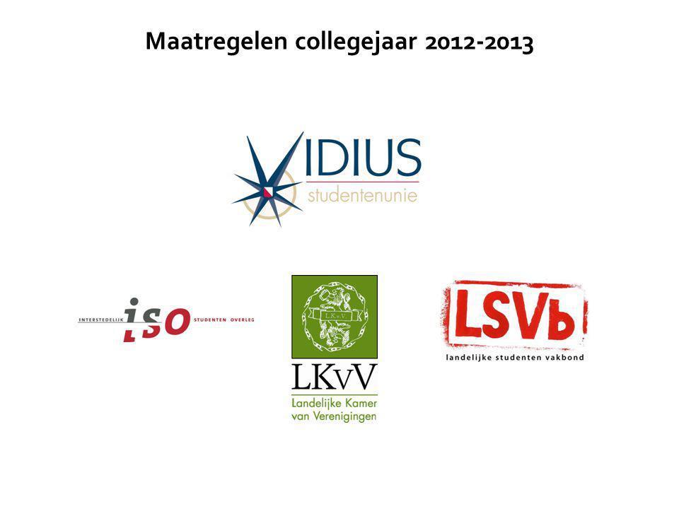 Maatregelen collegejaar 2012-2013