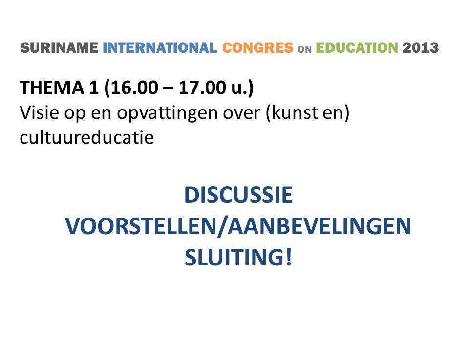 SURINAME INTERNATIONAL CONGRES ON EDUCATION 2013 TAKE FIVE!
