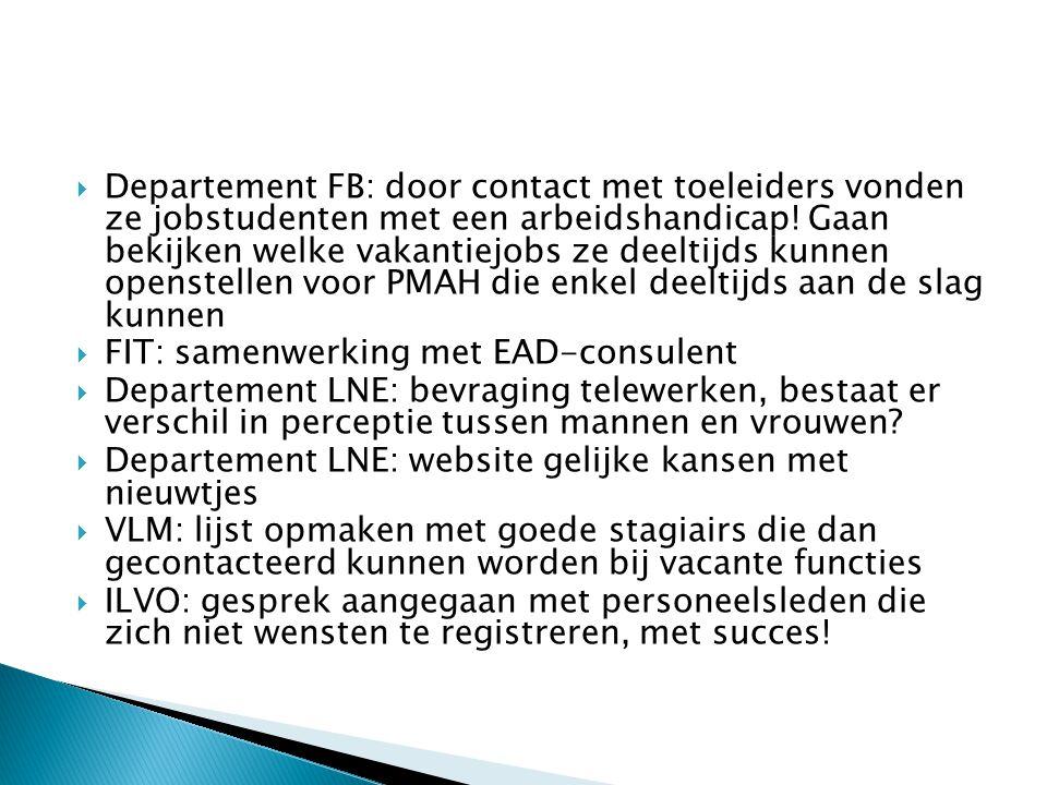 Departement FB: door contact met toeleiders vonden ze jobstudenten met een arbeidshandicap.