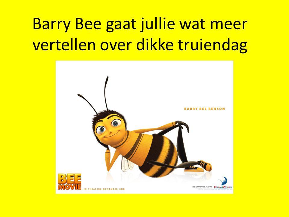 Barry Bee gaat jullie wat meer vertellen over dikke truiendag