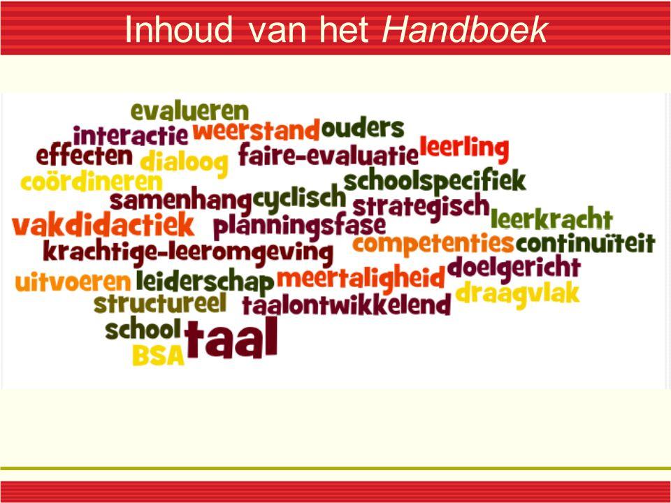 Inhoud van het Handboek