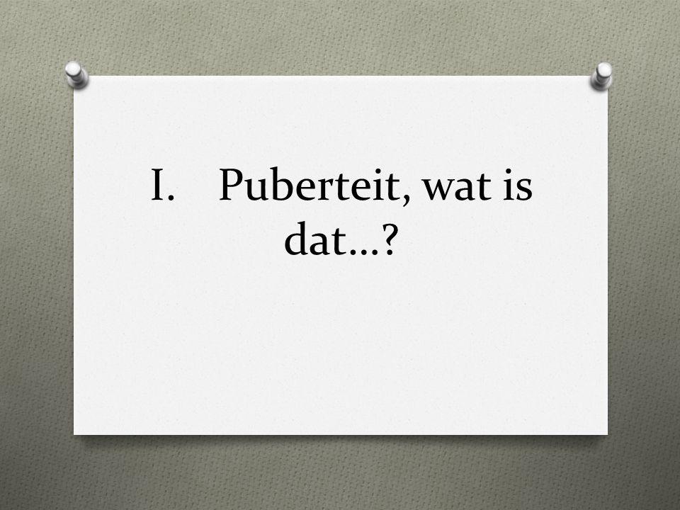 I.Puberteit, wat is dat…?