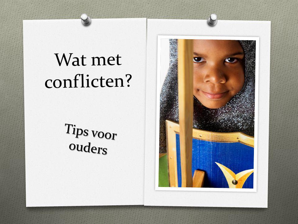 Wat met conflicten? Tips voor ouders