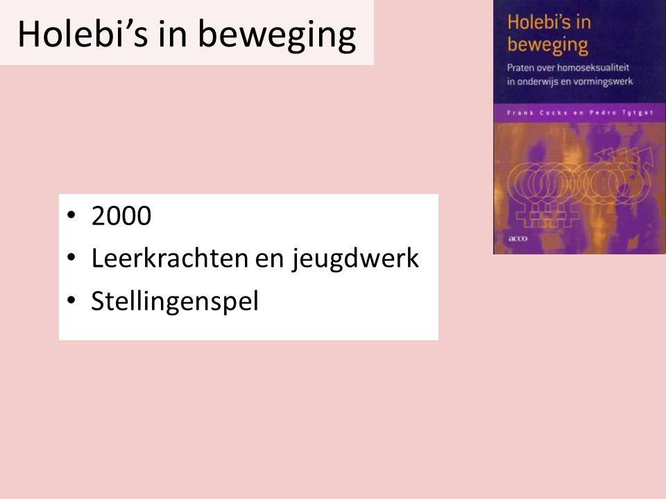 Holebi's in beweging • 2000 • Leerkrachten en jeugdwerk • Stellingenspel