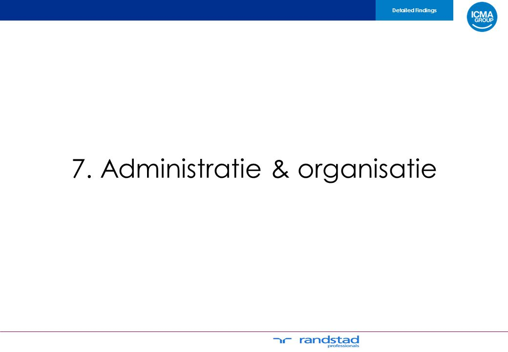 7. Administratie & organisatie Detailed Findings