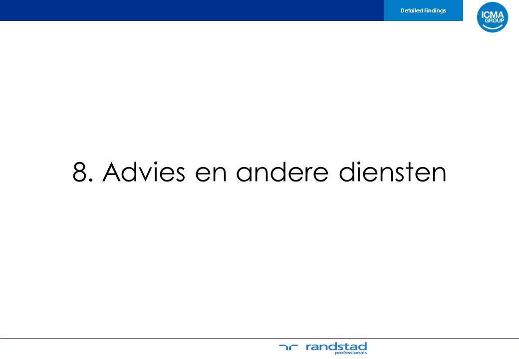 8. Advies en andere diensten Detailed Findings