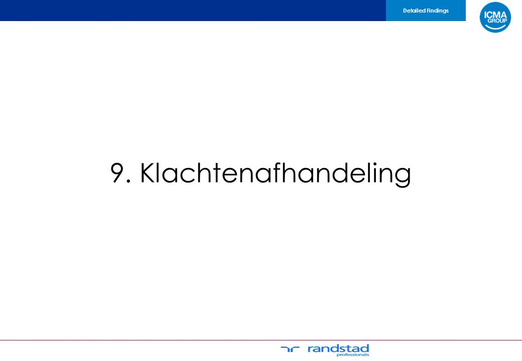 9. Klachtenafhandeling Detailed Findings