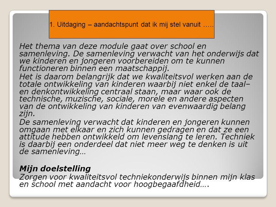 Het thema van deze module gaat over school en samenleving.