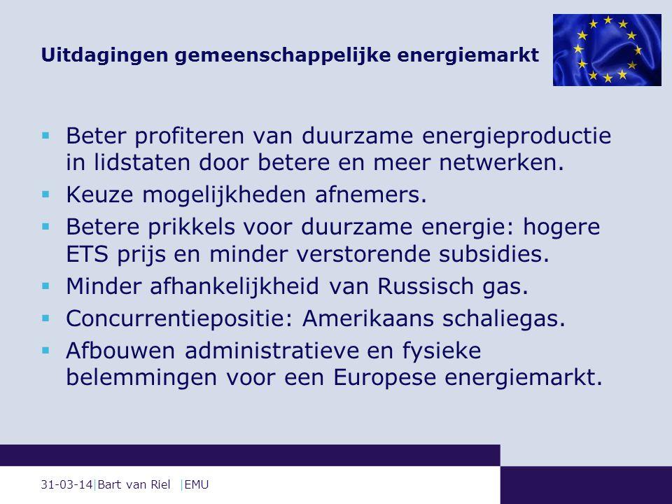 31-03-14|Bart van Riel |EMU  Beter profiteren van duurzame energieproductie in lidstaten door betere en meer netwerken.