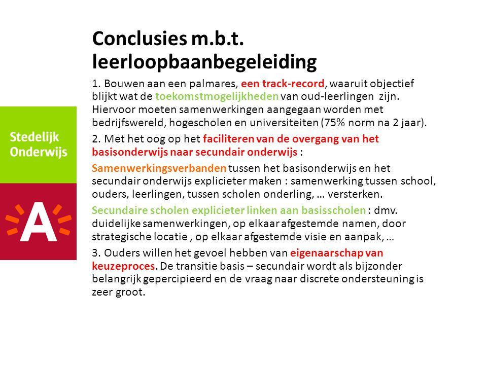 Conclusies m.b.t.leerloopbaanbegeleiding 1.