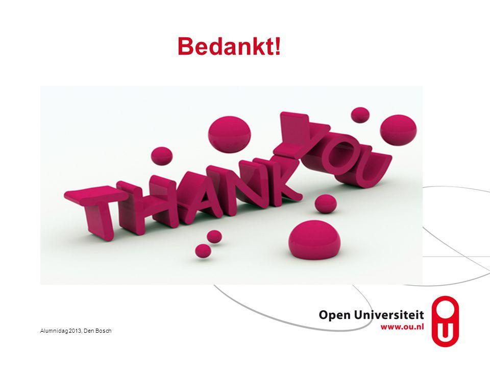 Bedankt! Alumnidag 2013, Den Bosch