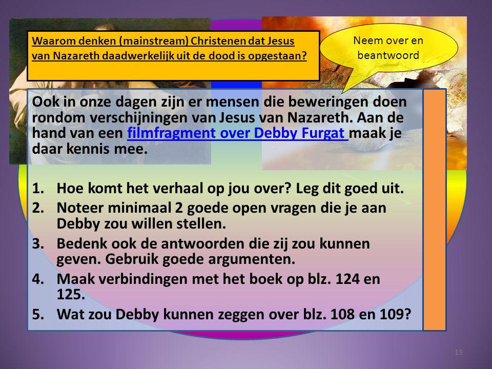 Ook in onze dagen zijn er mensen die beweringen doen rondom verschijningen van Jesus van Nazareth.